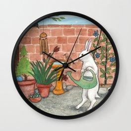 Rabbit's Garden Wall Clock