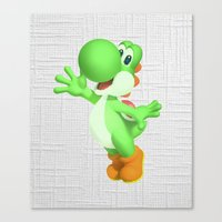 yoshi Canvas Prints featuring Yoshi by Jessica Wray