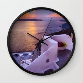 Santorini 24 Wall Clock