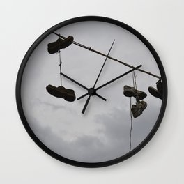Shoes In The Air Wall Clock