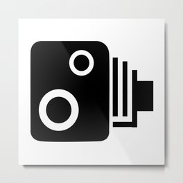 Isolated Speed Camera Metal Print