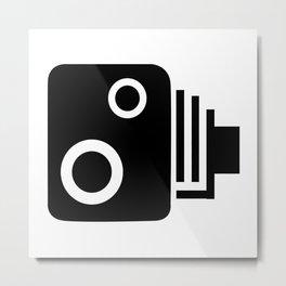 Isolated Speed Camera Metal Print