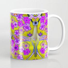 Fuschia Flaming Hot Pink Flower Power Coffee Mug