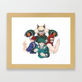 Hero Academia Framed Art Print
