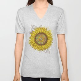 Sunflower Compass Unisex V-Neck