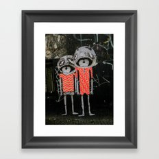 street art couple Framed Art Print