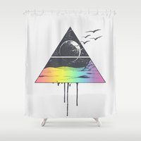 breathe Shower Curtains featuring Breathe by Jorge Lopez