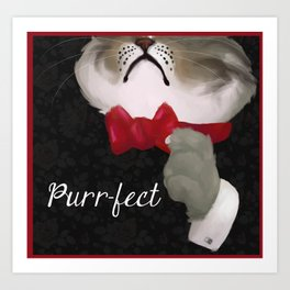 The Purr-fect Attire Art Print