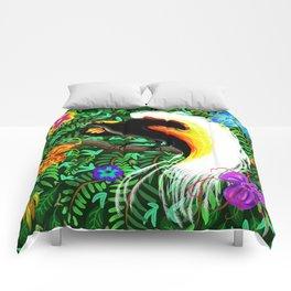 Paradise Bird Fire Feathers Comforters