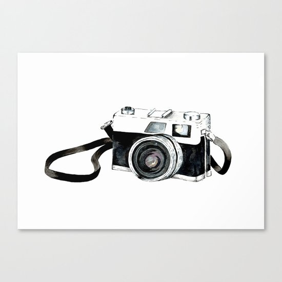 Vintage camera Canvas Print