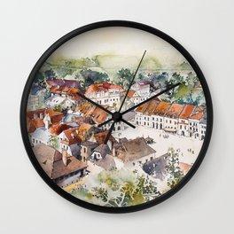 Old Marketplace in Kazimierz Dolny | Poland Wall Clock