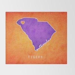 Clemson Tigers Throw Blanket