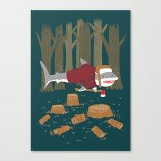 LumberJack Shark Canvas Print