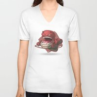daredevil V-neck T-shirts featuring Daredevil by Knighted