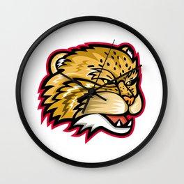 Manul or Pallas Cat Head Mascot Wall Clock