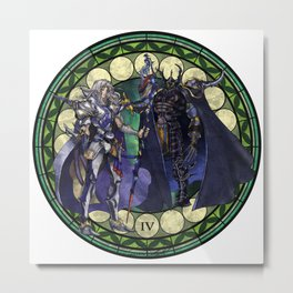 Final Fantasy IV Stained Glass Drawing  Metal Print