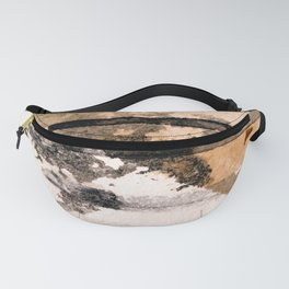 Desert Musings - a watercolor and ink abstract in gray, brown, and black Fanny Pack