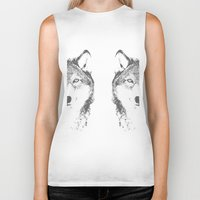wolves Biker Tanks featuring WOLVES by Aonair Designs