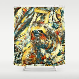 AnimalArt_Sloth_20171201_by_JAMColorsSpecial Shower Curtain