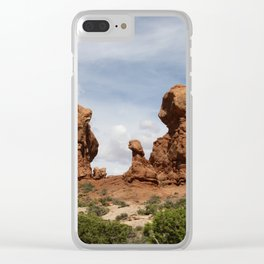 Parade Of the Elephants Clear iPhone Case