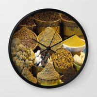 egyptian Wall Clocks featuring Egyptian Spices by Brian Raggatt