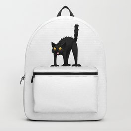 Black Cat Funny Halloween Horror Scary Backpack