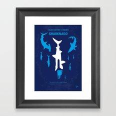 No216 My Sharknado minimal movie poster Framed Art Print