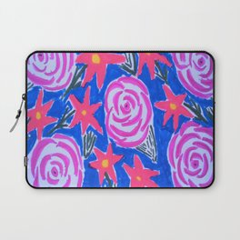 Classic Pink and Blue Floral Laptop Sleeve