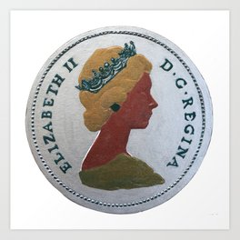 Queen Elizabeth - 25 cents - The Queens Mint Series Art Print