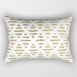 Chic faux gold foil modern brushstrokes pattern Rectangular Pillow