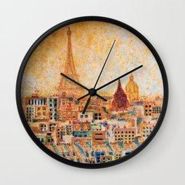 Spring Sunrise in Paris Wall Clock
