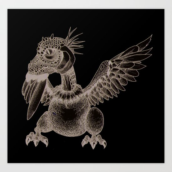 Iguageon Art Print