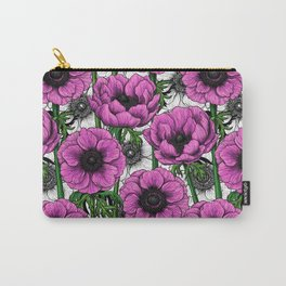 Pink anemone garden Carry-All Pouch