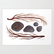 Sticks & Stones No. 2 Art Print