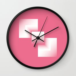 pink energy tower Wall Clock