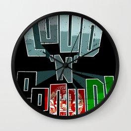 Afghanistan Pride Loud N Proud Wall Clock