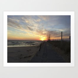 Lake Michigan Pier Art Print