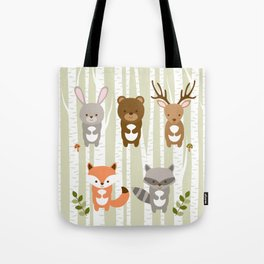 Cute Woodland Forest Animals Tote Bag