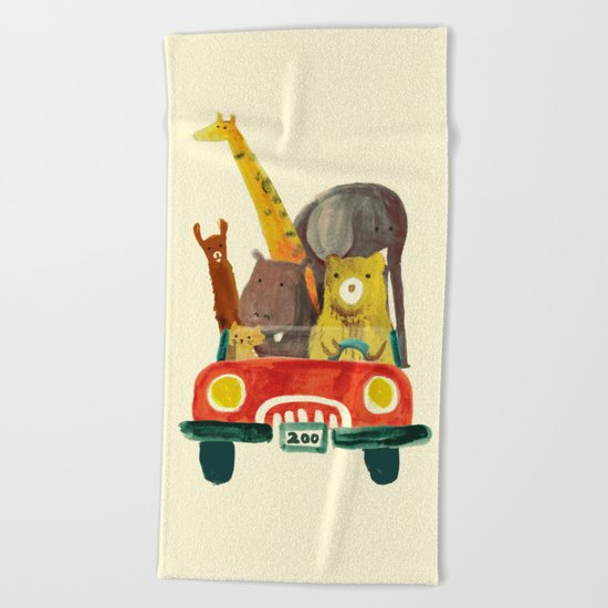 Visit the zoo Beach Towel