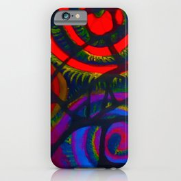 Ram's Horns 2013 By Jackson Shuri (Adinkra Symbol) iPhone Case