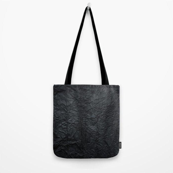 Black paper Tote Bag