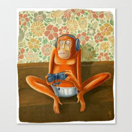 Monkey play Canvas Print