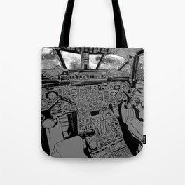 SpaceJet (B/W) Tote Bag