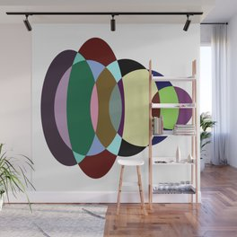 Pastel Meditation - Pastel coloured, relaxing, calming, abstract, elliptical interactions Wall Mural