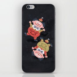 Tweedledee and Tweedledum - Alice in Wonderland iPhone Skin