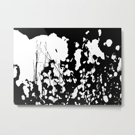 Abstract Black and White Rorschach Metal Print
