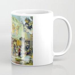 Vintage Transcontinental Railroad Coffee Mug
