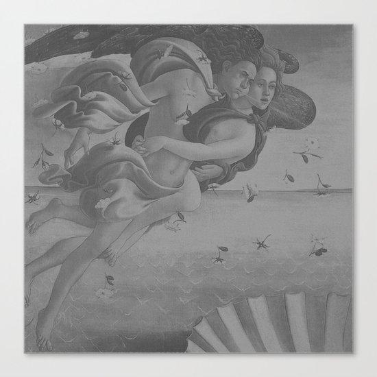 Black White Angels Canvas Print