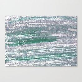 Slate gray green nebulous watercolor paper Canvas Print
