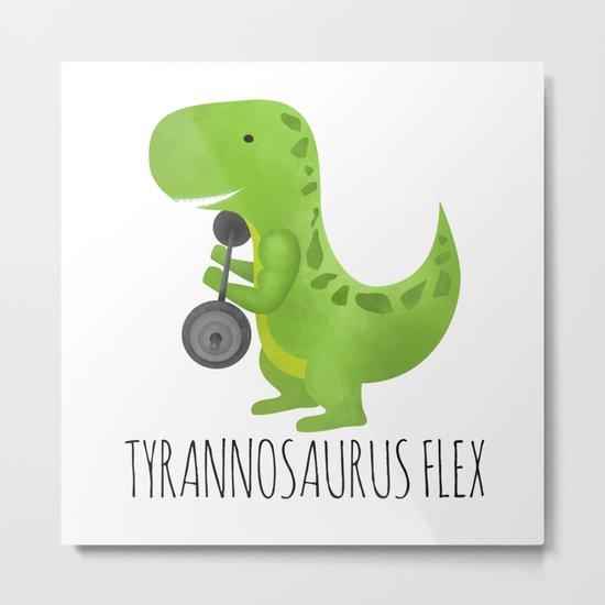 Tyrannosaurus Flex Metal Print